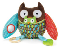 0-12 Months Unisex Multicolor Multi-function farm owl baby calm doll cloth toy 20.5 cm high baby educational toys
