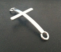 Wholesale Hot Antique Silver Cross Charm Jewelry Connectors mm Fit Jewelry Bracelet Making