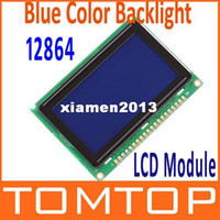 Wholesale 12864 x64 Dots Graphic STN Blue Color Backlight LCD Display Module Drop Shipping