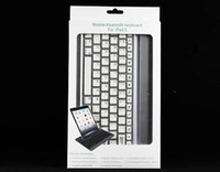 For Apple For Ipad 2/3 ABS For ipad air 2 3 4 5 6 9.7 ipad mini 2 retina Aluminum bluetooth keyboard case cover with stand wireless keyboard cases tablet pc