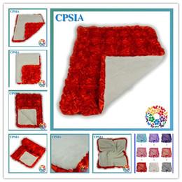 Wholesale Baby Blanket Rosette flower Fleece fabric polyester blanket For children DHL Free