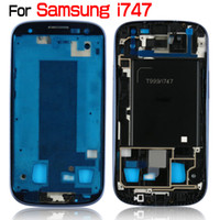 Wholesale Lights For Chassis - For Galaxy S3 I747 T-Mobile OEM Middle Housing Middle Chassis Mid-frame Faceplate Bezel Cover Blue Gray Light Gray