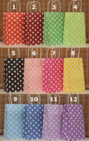all army gift shop - Polka Dots Paper Gift Bag shopping Favors Packaging each color LH0022