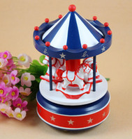 Wholesale Birthday gift carousel music box music box wooden music box Christmas edition gift