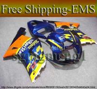 Wholesale GSXR600 GSXR750 Telefonica yellow blue Kit Fairing for Suzuki GSXR GSXR750 GSX R K1 ABS Body