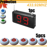 Wholesale 433 mzh Promotion tabletop service bell waiter calling system LED display wirelesss table restaurant equipment for sale