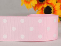 Wholesale 1 mm pink dots series printed grosgrain ribbon package DIY dots gift ribbon yards