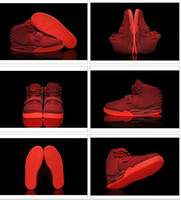 Wholesale 2013 Rerto Men s Athletic Basketball Shoes Red October Glow In The Dark
