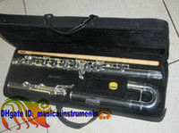 Wholesale Professional level C bass flute Silver plated with case