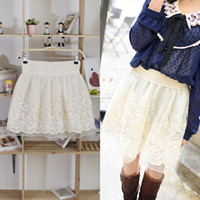 Wholesale Fashion Ladies Sweet White Net Yarn Lace Skirt Girls Princess Tutu Skirt Fancy Dress Bust Skirt DFR1