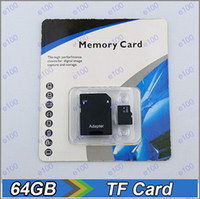 TF / Micro SD Card 64GB 200pcs 64GB Class 10 Memory SD Card TF Memory Card with Free Retail Package A013