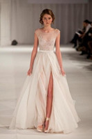 Sweetheart elie saab dress - New Arrival A Line Scoop Elie Saab Dress tank Embroidery Long Strap Evening Fromal Celebrity Dresses