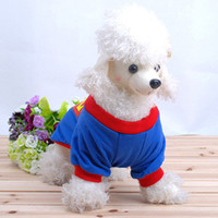Wholesale Dog Clothes Superman Design Dog Clothes Superdog Outer Coat Autumn and Winter Design Pet Clothes Dog Apparel CA002
