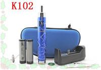Cheap K102 Electronic Cigarette Kit Vapor Product Hybrid Clone K102 Mod kits with big Vapor 5Colors E-cigs 18650 Battery kits