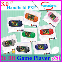 Wholesale DHL PXP bit Handheld Video Game Player Console Free Games RW PXP3