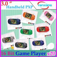 Wholesale DHL PXP3 bit Handheld Video Game Player Console Free Games RW PXP3