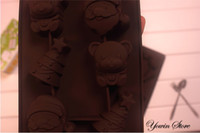 Wholesale Christmas tree Muffin Sweet Candy mold Jelly fondant Cake chocolate Mould Silicone tool