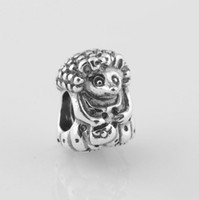 Wholesale Authentic ALE Sterling Silver Miss Hedgehog Animal Bead Fits European Pandora Charm Beads Bracelets