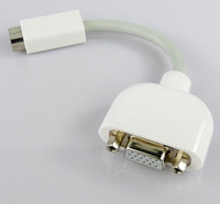 Wholesale 120pcs Mini DVI to VGA Monitor adapter cable for MacBook