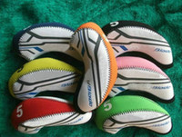 Wholesale S Blade Iron Covers Neoprene Golf Headcovers Two Tones With Numbers For Golf Clubs Mix Colors sets per set
