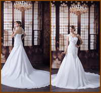 Wholesale 2013 High Quality Chapel Train Actual Product Sexy One Shoulder Hand Made Flowers Sleeveless Mermaid Wedding Dress Crystal Ruffles YJW