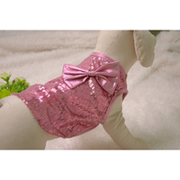 Wholesale Factory Outlet Pet Clothes Sparkly Dog Vest with Bowknot Pink and Blue Dog Vest CA104
