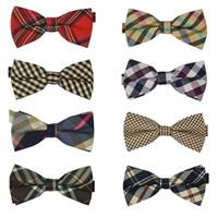 Wholesale 10 New Hot Men s Cotton geometric Design Bow ties Men Vintage Wedding party pre tie Bow tie MT10