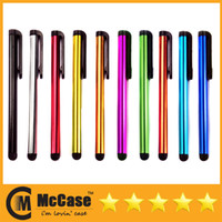 Wholesale Universal Cell Phone Capacitance Stylus Pen For iPhone S IPAD Samsung Galaxy Android Mini Portable Colorful Stylus Pens