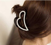 Wholesale New Arriving Lovely Clamps Hair Jewelry Simple love peach heart shaped hairpin