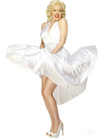 Wholesale Marilyn Monroe Classic White Vintage Celebrity Dress in Seven Year Itch Party Dress A Line Hot Sale Cheap Prom Gowns MA101