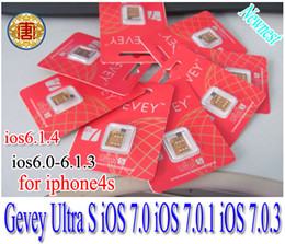 Wholesale world wide Gevey Ultra S unlock sim card iPhone S for iOS7 iOS iOS iOS IOS gevey Ultra s sim card