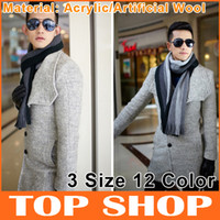 Wholesale Scarves Spell Color Stripe Cashmere Imitation Scarves Knitted Casual Men s Scarfs Size SS007