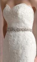 Elastic Satin wedding dress belts - Best Selling Exquisite Shining Crystal Beaded Bridal wedding Dresses Sashes Hand beaded illusion Wedding Dress Belts