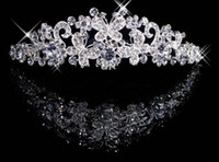Wholesale Each one Butterfly Crown Combs Wedding Bridal Tiara Jewelry Crystal Hair Ornaments Wedding Dress Accessories Each