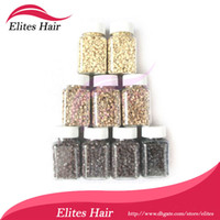 Wholesale Silicone Micro Beads for Feather Hair Extension Link Beads black nigger brown brown Color FEB001