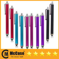 Wholesale Universal Cell Phone Capacitance Stylus Pen For iPhone S IPAD Samsung Galaxy Smart Phone Portable Colorful Stylus Pens