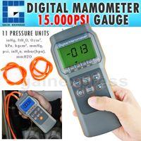 Wholesale A0182152 Professional Economic Digital Manometer psi Gauge Differential Pressure meter mmHg inHg kPa