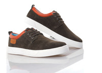 Wholesale Mens Winter Casual Shoes Brown Skate Board Shoes Canvas Shoes Fashion Pointed Shoes Lace Up Shoes