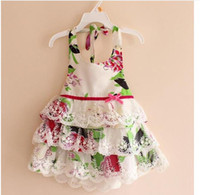 Wholesale 2013 baby girl vest lace dress children tutu dresses kids summer clothes colors high quality A73