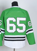 Ice Hockey Men Full Blackhawks #65 Shan Green Hockey Jerseys 2014 New Winter Outdoor Sports Jerseys Popular Ice Hockey Jerseys High Quality Cheap Sportswear