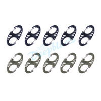 buckle Backpacking  50 Pcs lot Free Shipping S-Shaped Aluminum Carabiner Snap Clip Hook Keychain Plastic Buckle