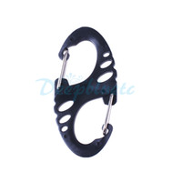 buckle Backpacking  100 Pcs Lot S-Shaped Aluminum Carabiner Snap Clip Hook Keychain Plastic Buckle