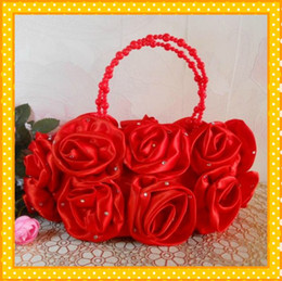 Wholesale 2014 new red Petal Bride Handbag
