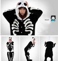 Unisex babydoll fashion - Hot Sale Fashion Black White Skeleton New Kigurumi Pajamas Animal Cosplay Costume Unisex Bridal Undergarments Stock