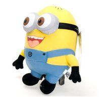Cheap 18CM,25CM,50CM Baby Plush Toys Despicable Me Minion Plush Doll 3D Eyes Dave Jorge Stewart Yellow PlushToy Kids Toy T-3
