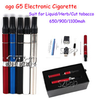 Electronic Cigarette Set Series as pictures ago G5 Electronic Cigarette with Pen Dry Herb Vaporizers Suit for Liquid Herb Cut tobacco E Cigarette Free Shipping Via DHL (86050300620)