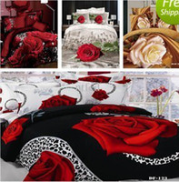 wholesale sheets - 3D printed Fitted Sheet Rubber Around d bedding set Flower MYY6970