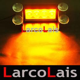 Amber White 4 LED Strobe Flash Warning EMS Car Truck Light Flashing Firemen Fog Lights 4LED