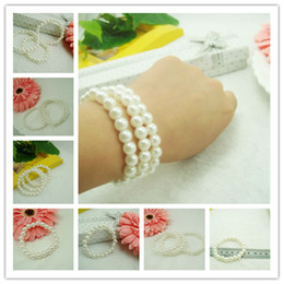 Wholesale Children Pearl Bracelets Kids Girl Boy Bracelet Baby Bracelet Jewelry Children Head Flower hair band Jewelry Accessories Photography Props