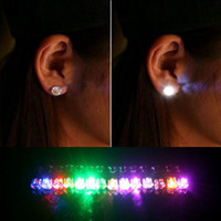 Wholesale LED Earrings Light Up Crown Shaped Shiny Studs